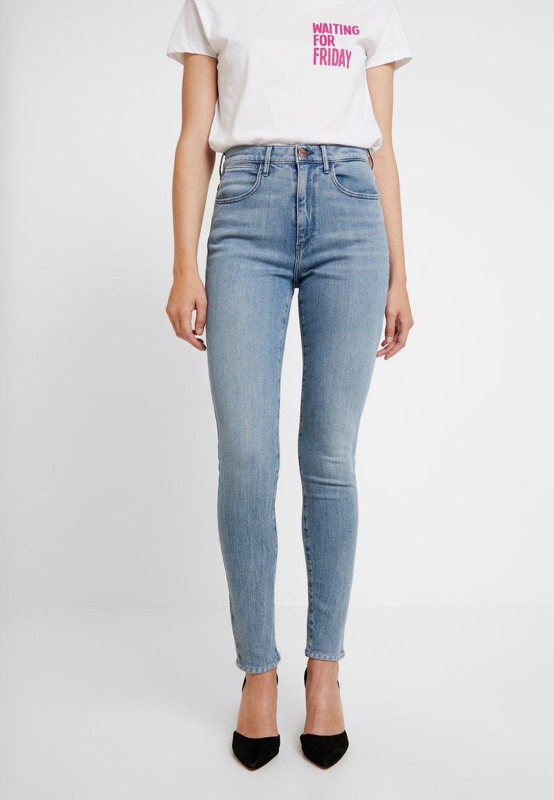 Wrangler - HIGH RISE  BODY BESPOKE - Jeans Skinny Fit - grey denim