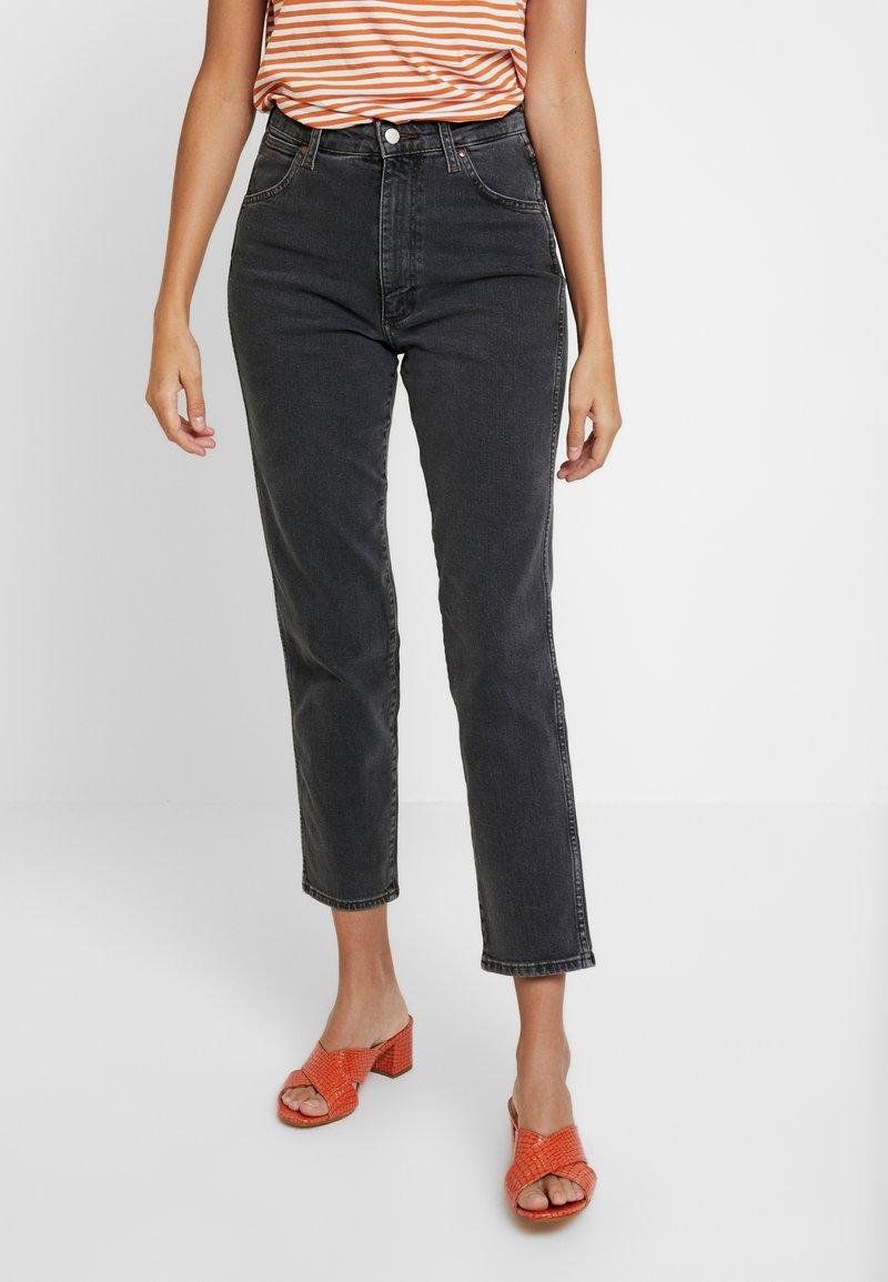 Wrangler - WOMEN WESTERN ZIPPER - Jeans Slim Fit - black