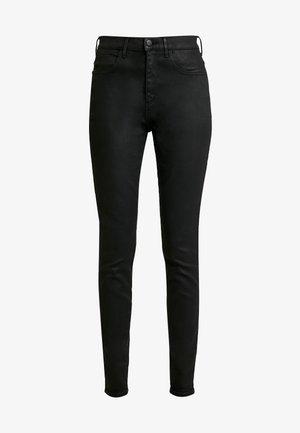 HIGH RISE - Jeans Skinny - coated black