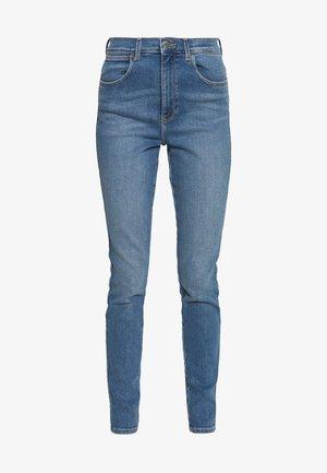 HIGH RISE - Skinny džíny - canary blue