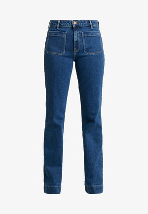 Flared Jeans - retro dark
