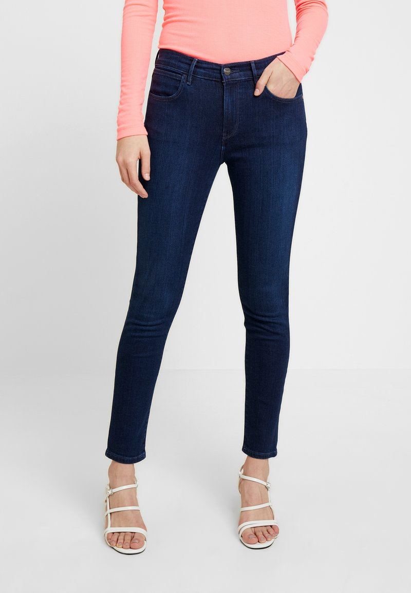 Wrangler - HIGH RISE - Jeans Skinny Fit - blue