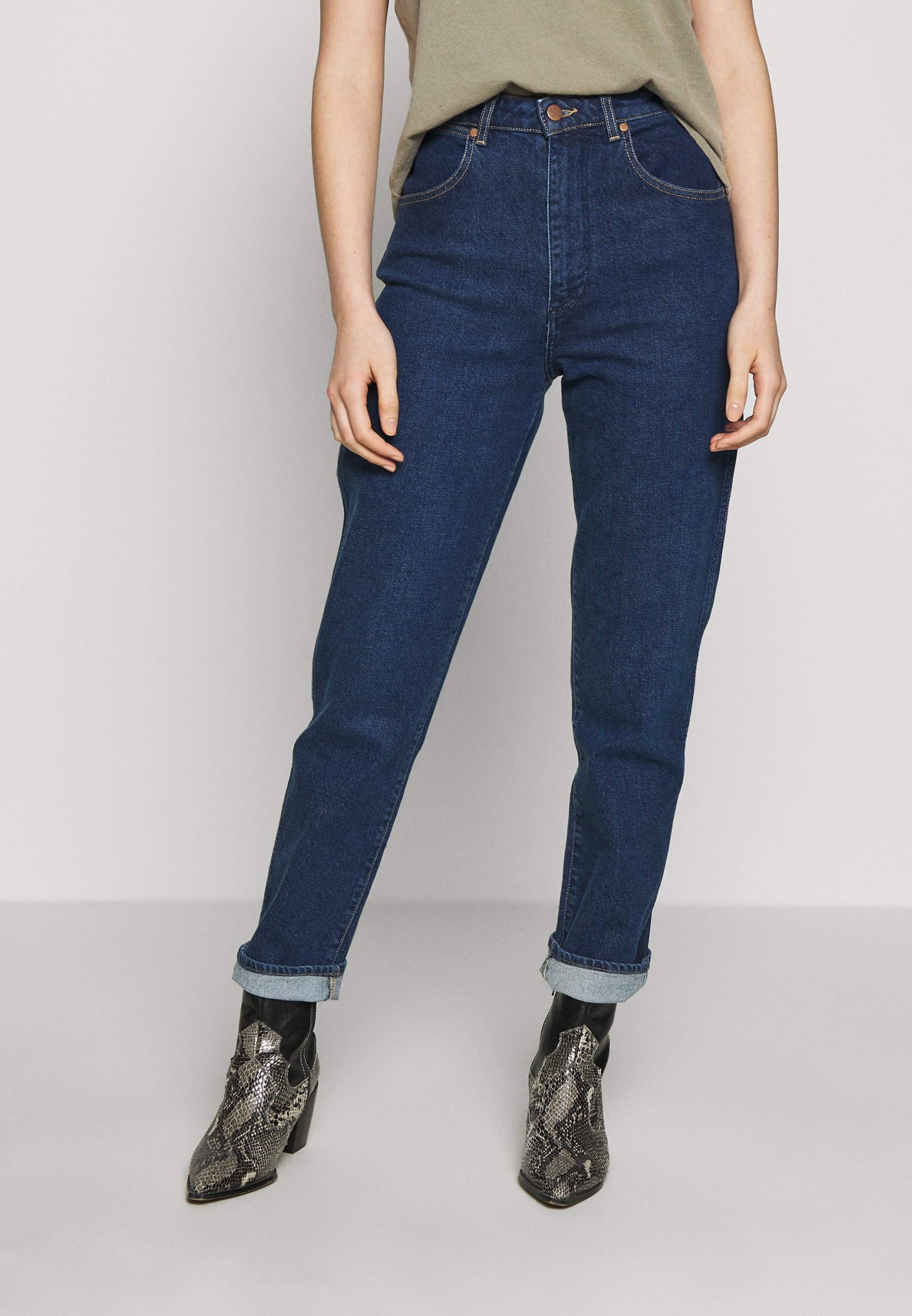 Wrangler MOM  - Jeansy Relaxed Fit - deep sea