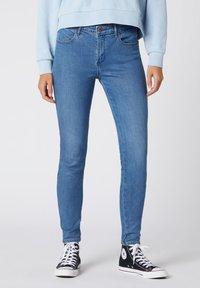 Wrangler - Jeansy Skinny Fit - mottled blue - 0