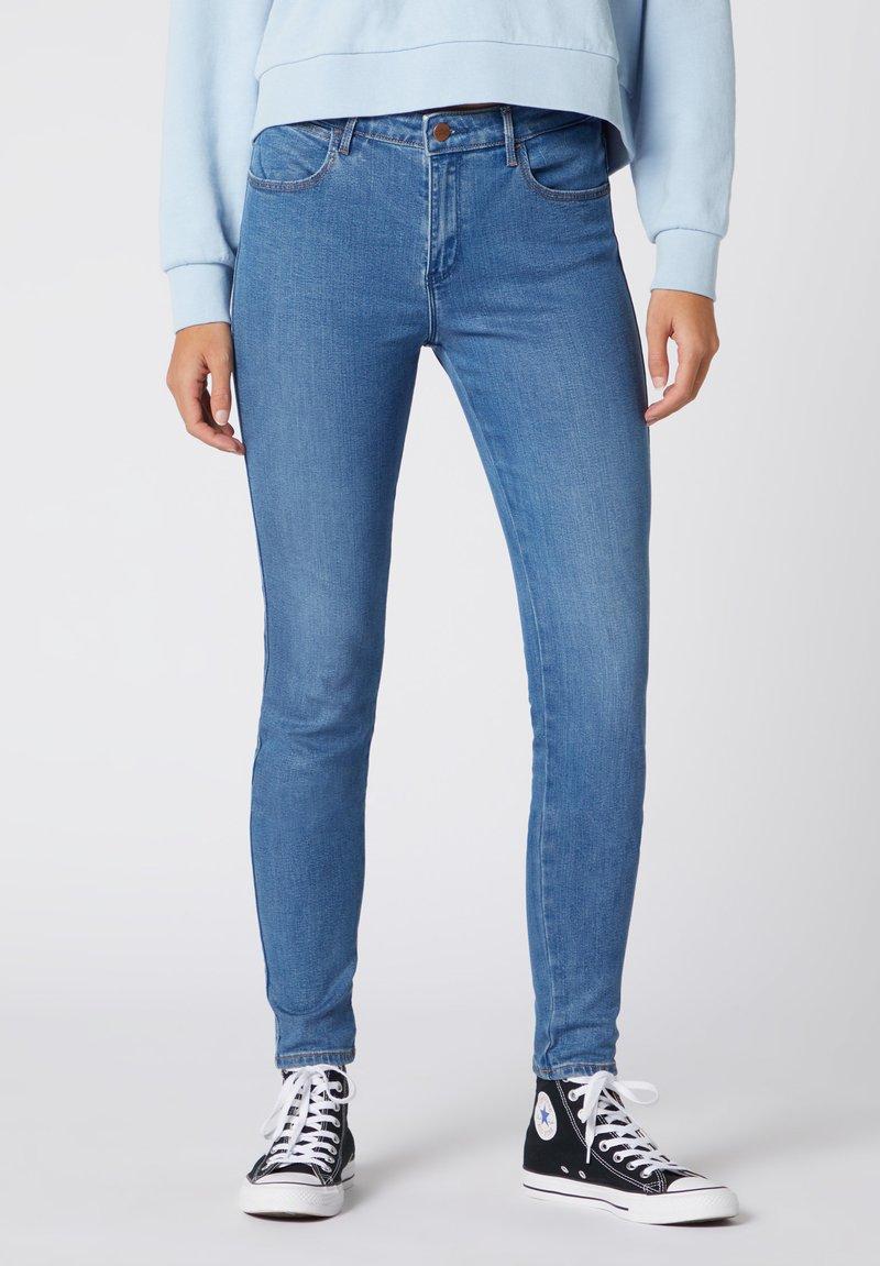 Wrangler - Jeansy Skinny Fit - mottled blue