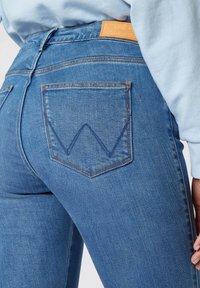 Wrangler - Jeansy Skinny Fit - mottled blue - 3