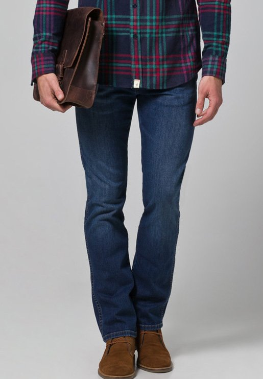 ARIZONA STRETCH - Jeansy Straight Leg - burnt blue
