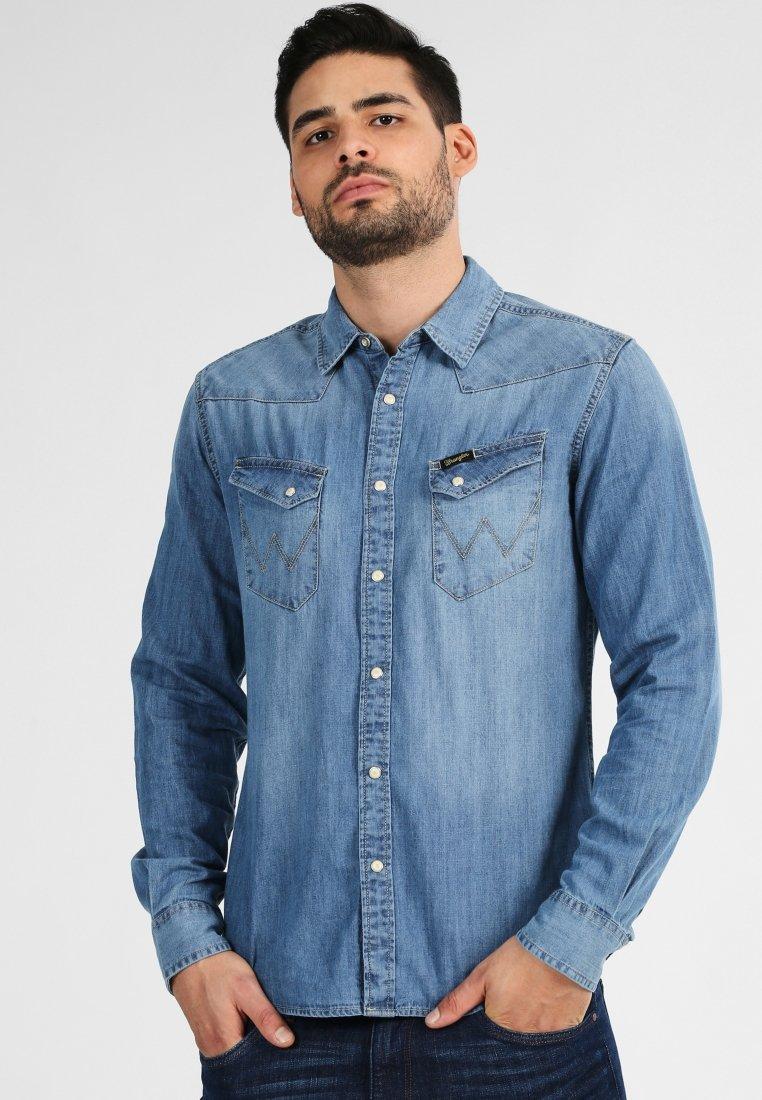 Wrangler WESTERN - Koszula - blue denim