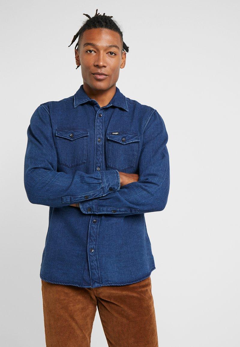 Wrangler - FLAP - Shirt - used indigo