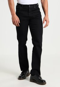Wrangler - TEXAS STRETCH - Straight leg jeans - raven - 0