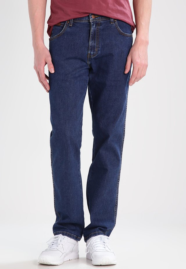 TEXAS STRETCH - Jeansy Straight Leg - darkstone
