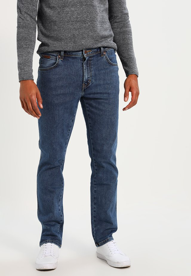 TEXAS STRETCH - Džíny Straight Fit - stonewash
