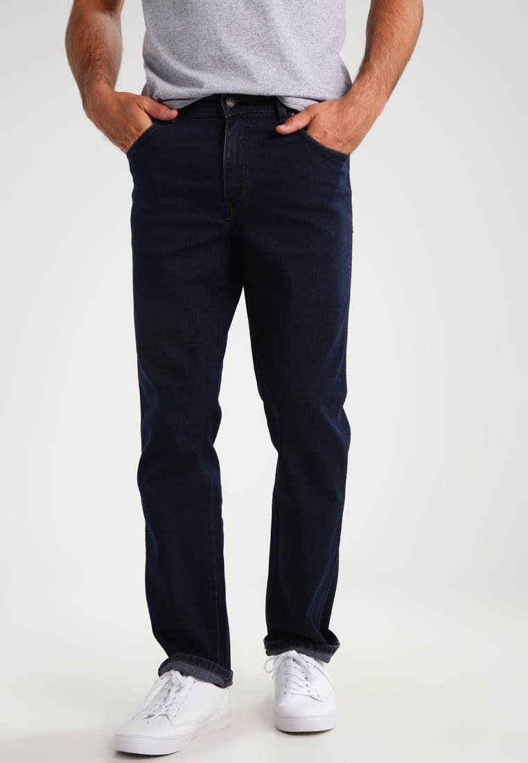 Wrangler - TEXAS STRETCH - Straight leg jeans - blue black
