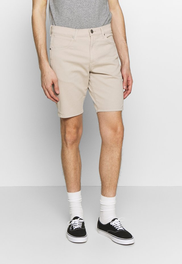 TEXAS FIT - Jeansshort - stone