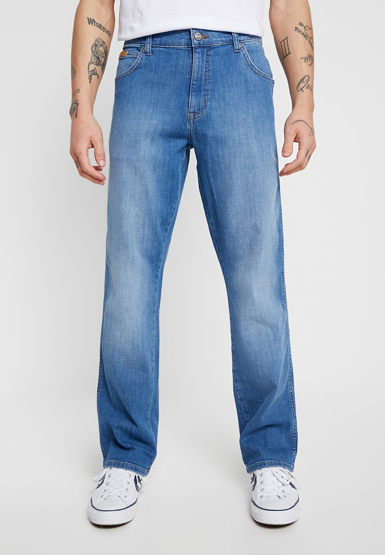 Wrangler - TEXAS - Jeansy Bootcut - blue used