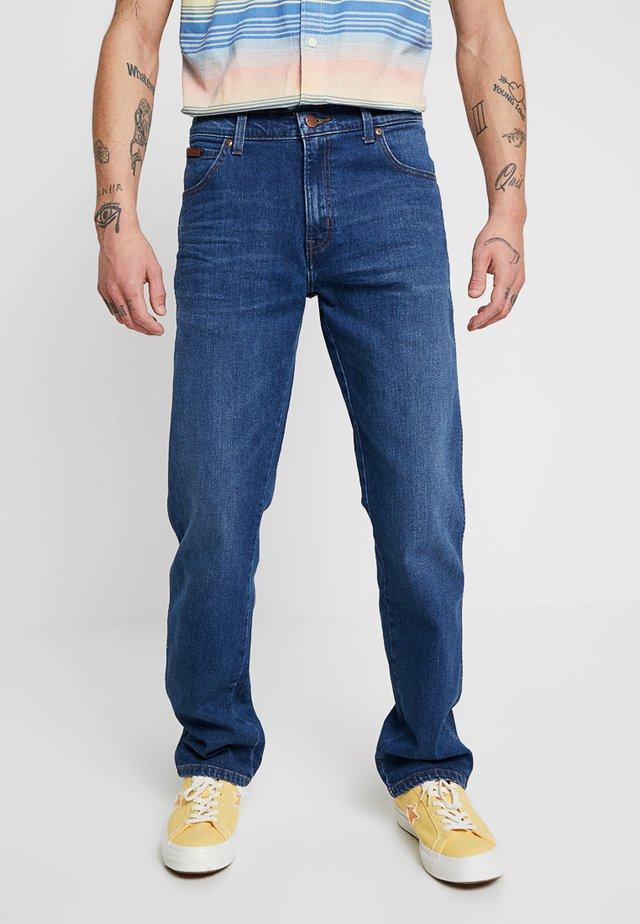 TEXAS - Jeansy Straight Leg - dark-blue denim