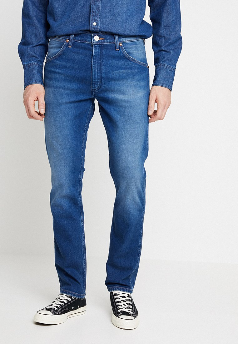 Wrangler 11MWZ - Jeansy Straight Leg - stone blue denim