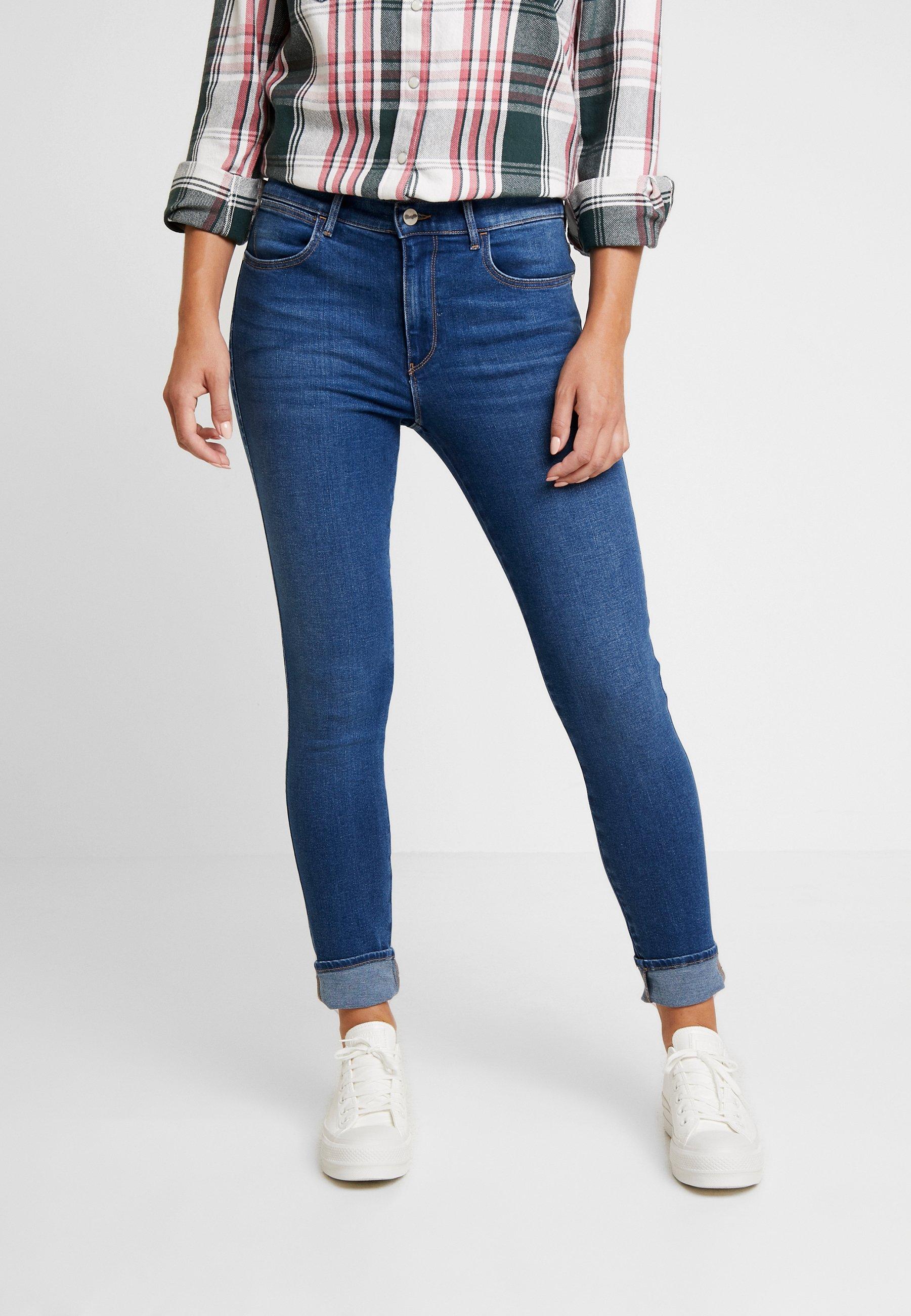 RiseJeans High Indigo Wrangler Mid Skinny qSMpzUV