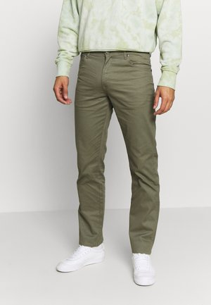 TEXAS - Straight leg jeans - dusty olive