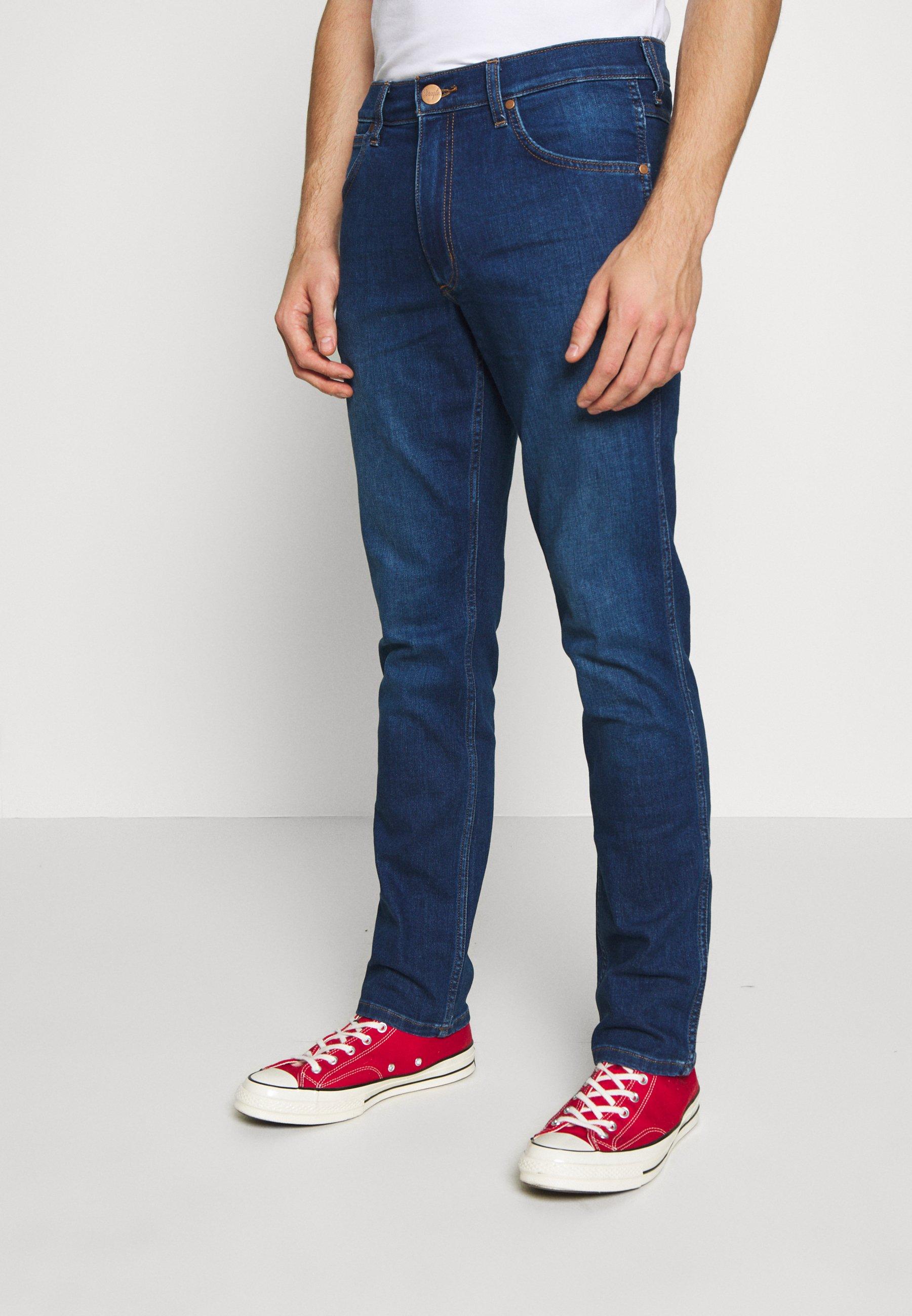 Wrangler Greensboro - Straight Leg Jeans Dark-blue Denim