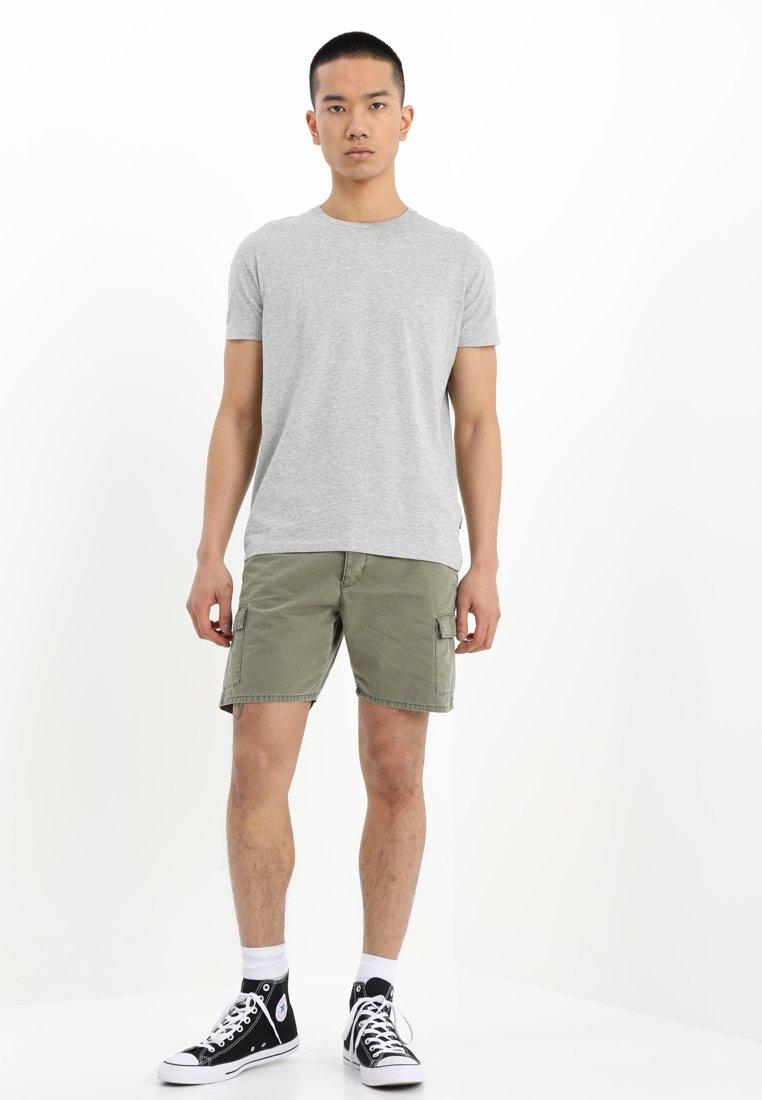 Wrangler - TEE 2 PACK - Basic T-shirt - mid grey melange