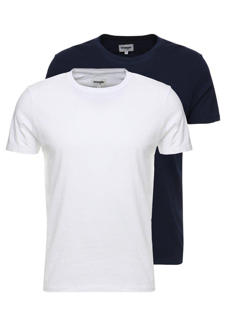 Wrangler - TEE 2 PACK - Camiseta básica - navy