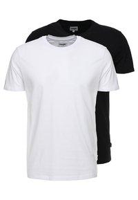Wrangler - TEE 2 PACK - T-shirt - bas - black - 0