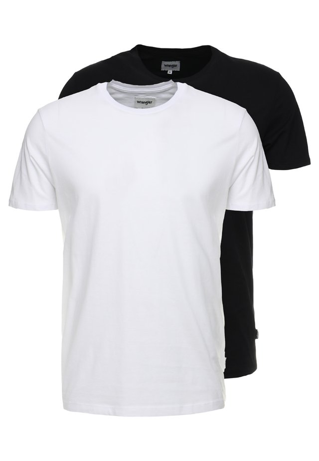 TEE 2 PACK - T-shirts - black