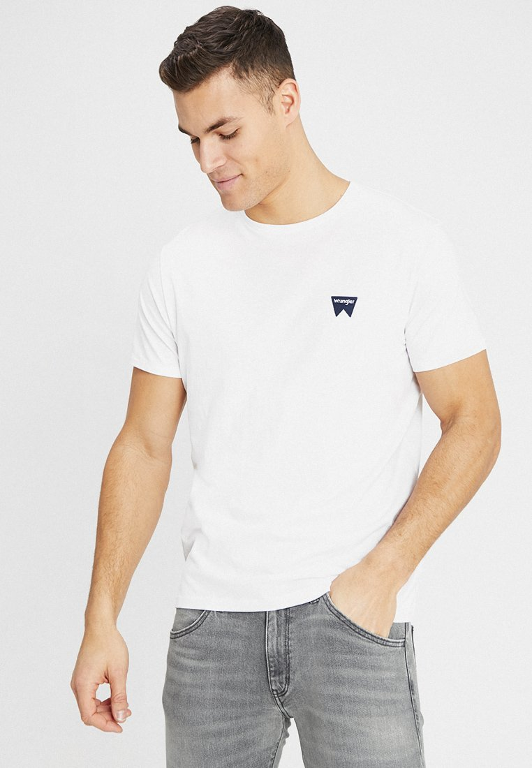 Wrangler - SIGN OFF TEE - T-shirt basic - white