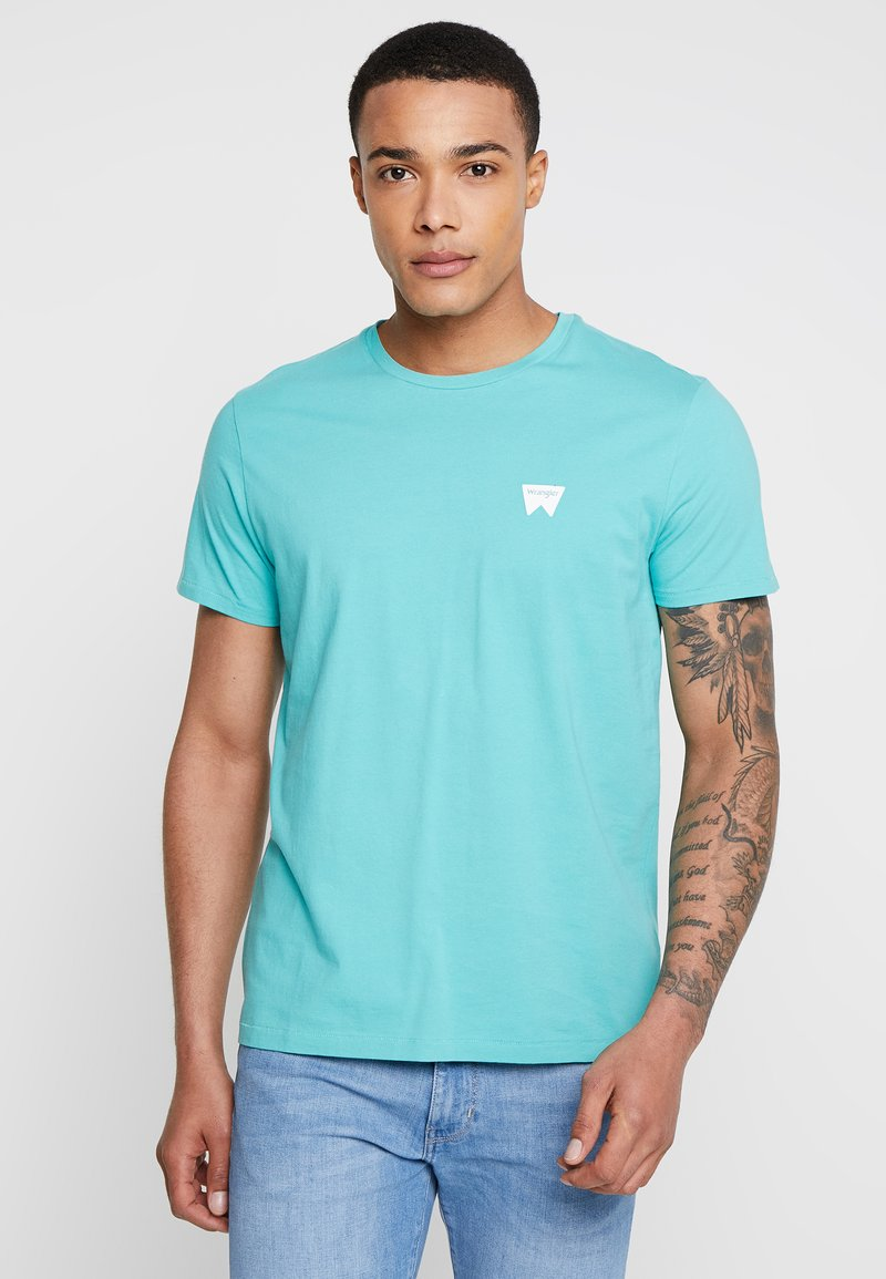 Wrangler - SIGN OFF - T-shirt imprimé - lagoon