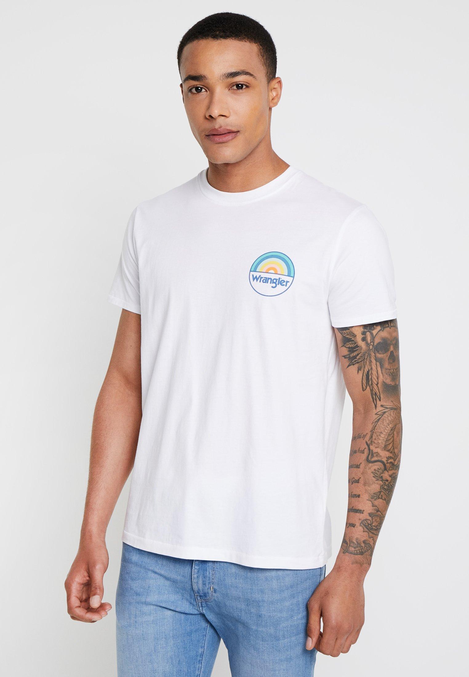Wrangler Rainbow White TeeT shirt Imprimé vNmwOn80