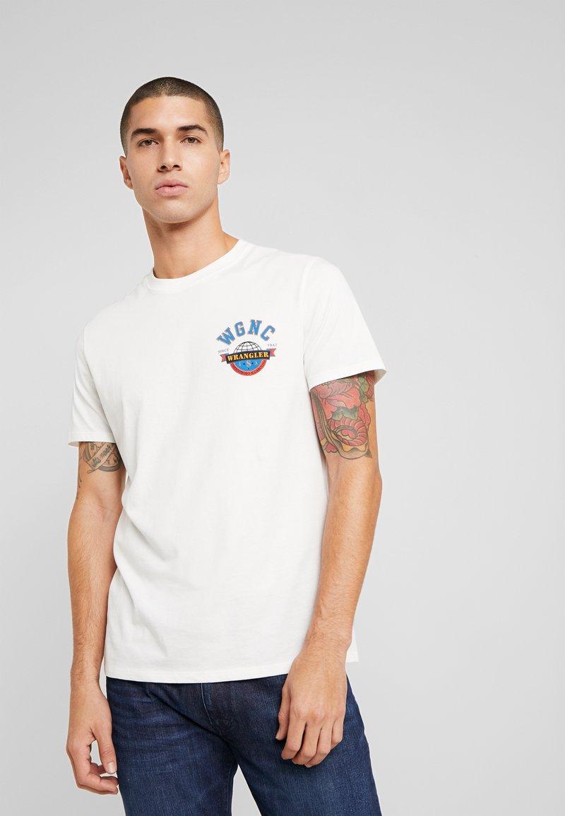 Wrangler - GLOBE TEE - T-shirt print - off white