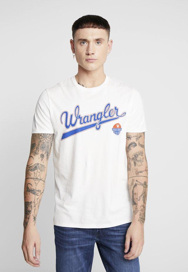 LOGO TEE - T-shirt z nadrukiem - off white