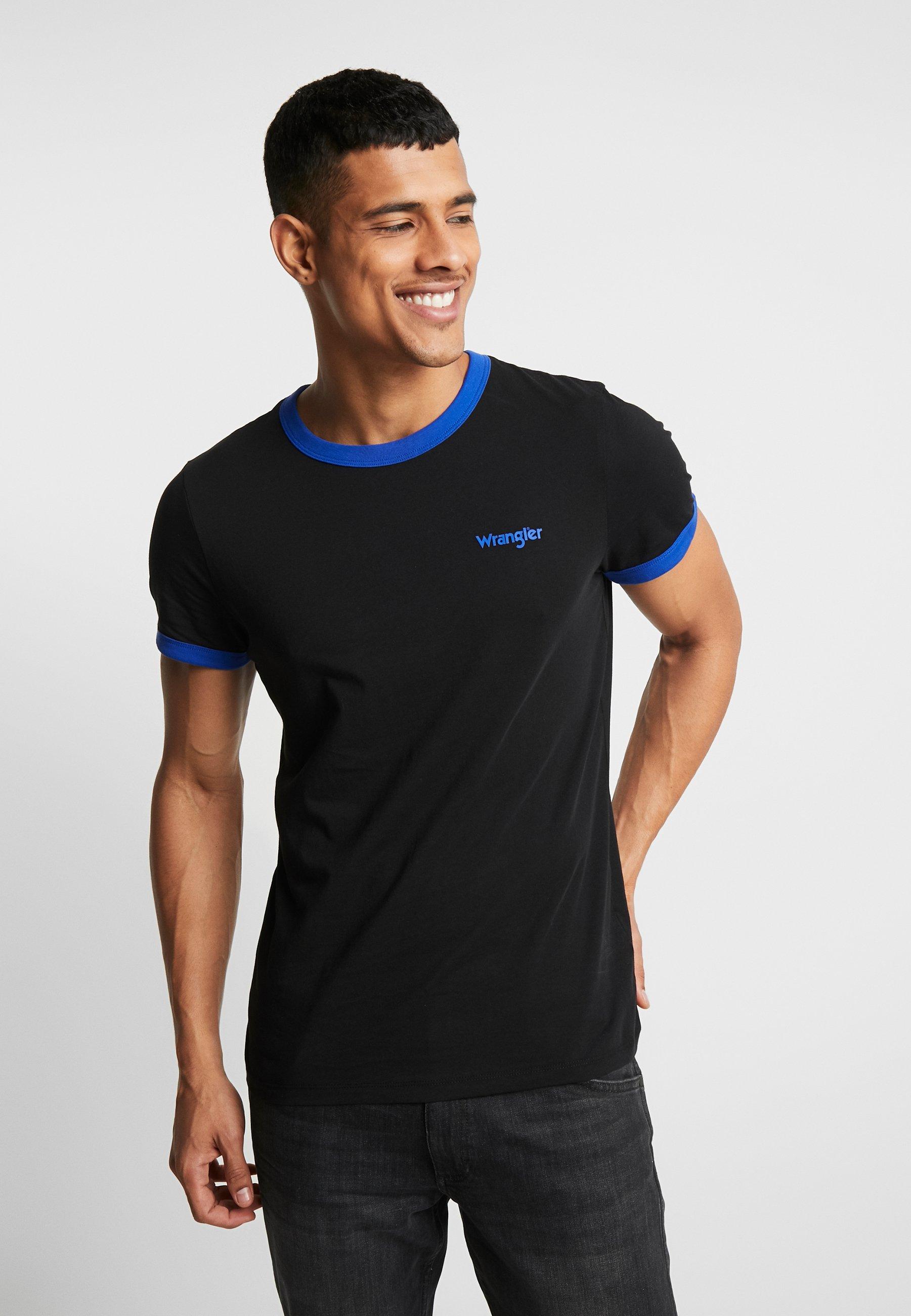 Wrangler RINGER TEE - T-shirt z nadrukiem - black