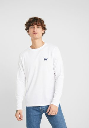 SIGN OFF TEE - Long sleeved top - white