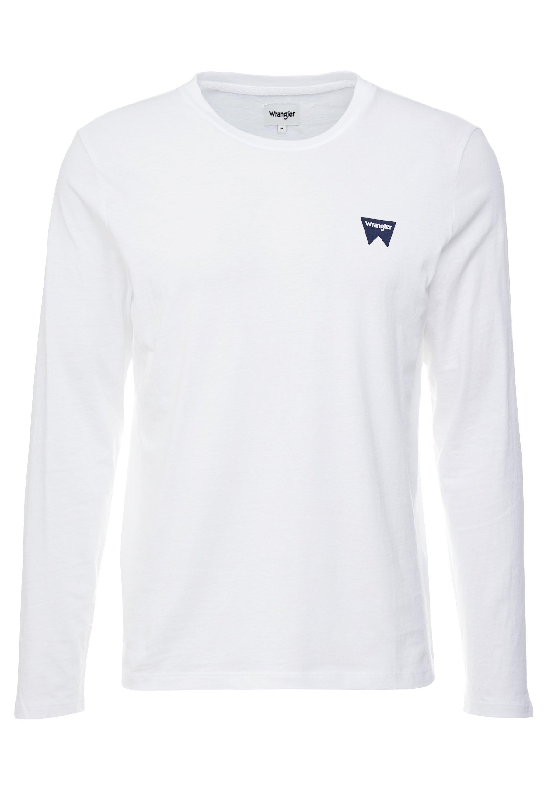 Wrangler SIGN OFF TEE - Bluzka z długim rękawem - white