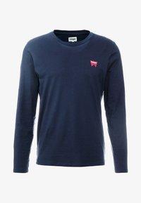 Wrangler - SIGN OFF TEE - Bluzka z długim rękawem - navy - 4