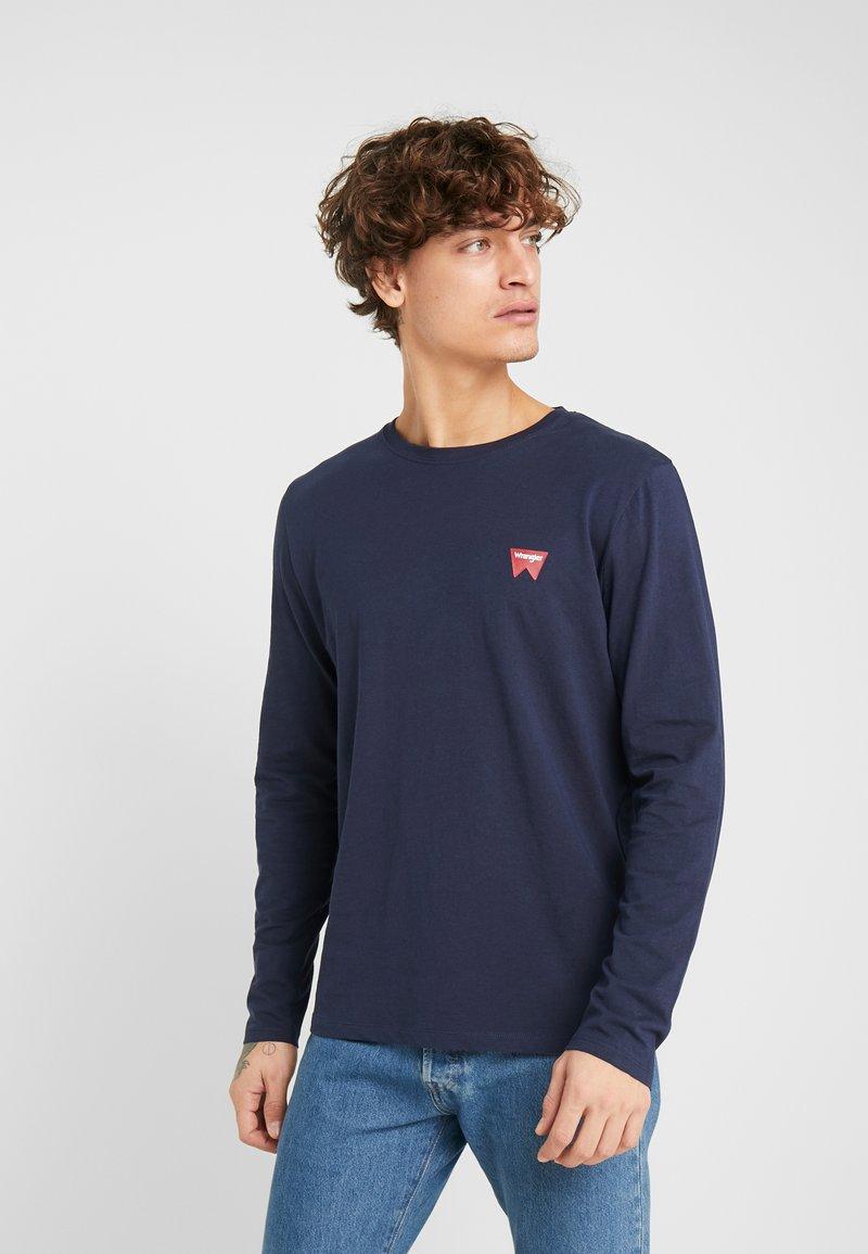 Wrangler - SIGN OFF TEE - Bluzka z długim rękawem - navy