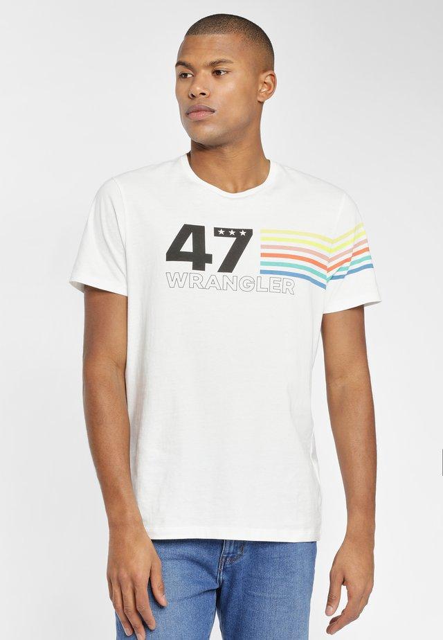 RAINBOW  - T-shirt z nadrukiem - off white