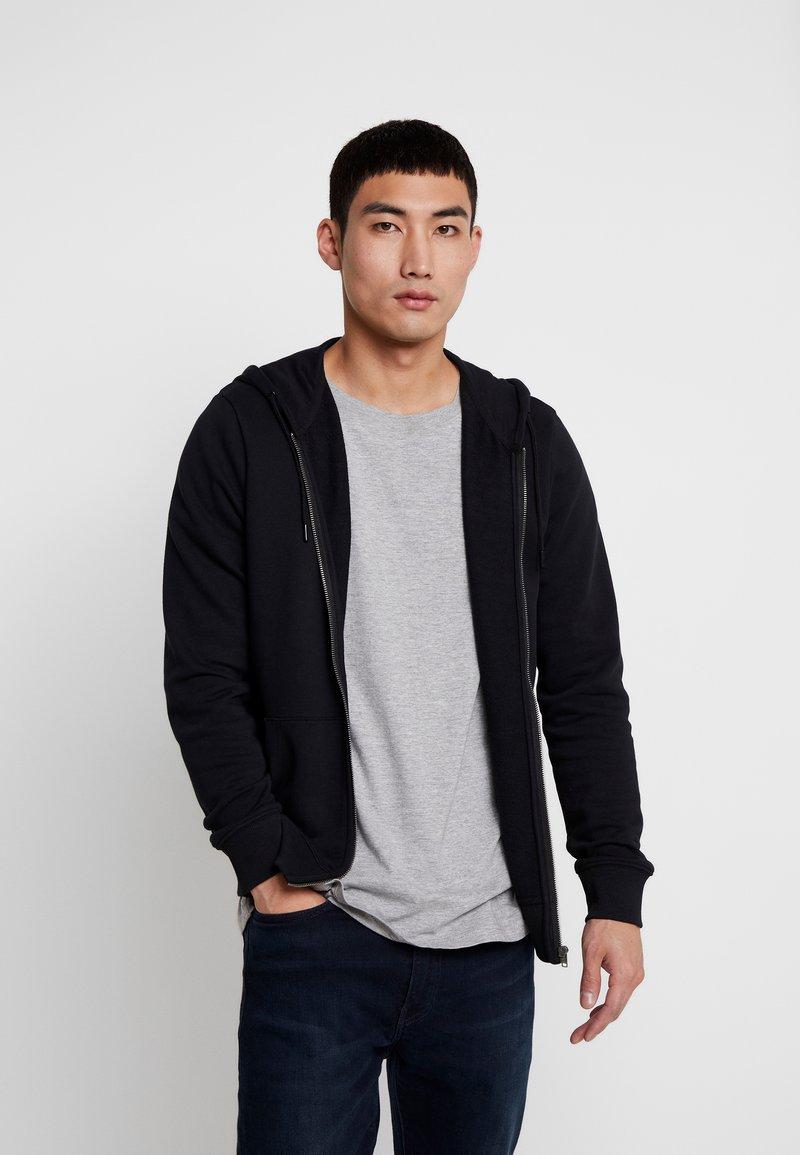Wrangler - SIGN OFF ZIPTHRU - veste en sweat zippée - black