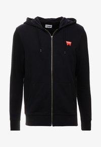 Wrangler - SIGN OFF ZIPTHRU - veste en sweat zippée - black - 3