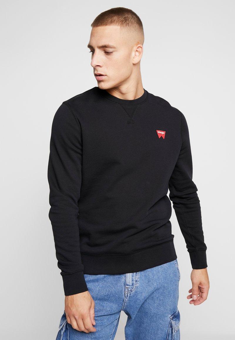Wrangler - SIGN OFF CREW - Sweatshirts - black