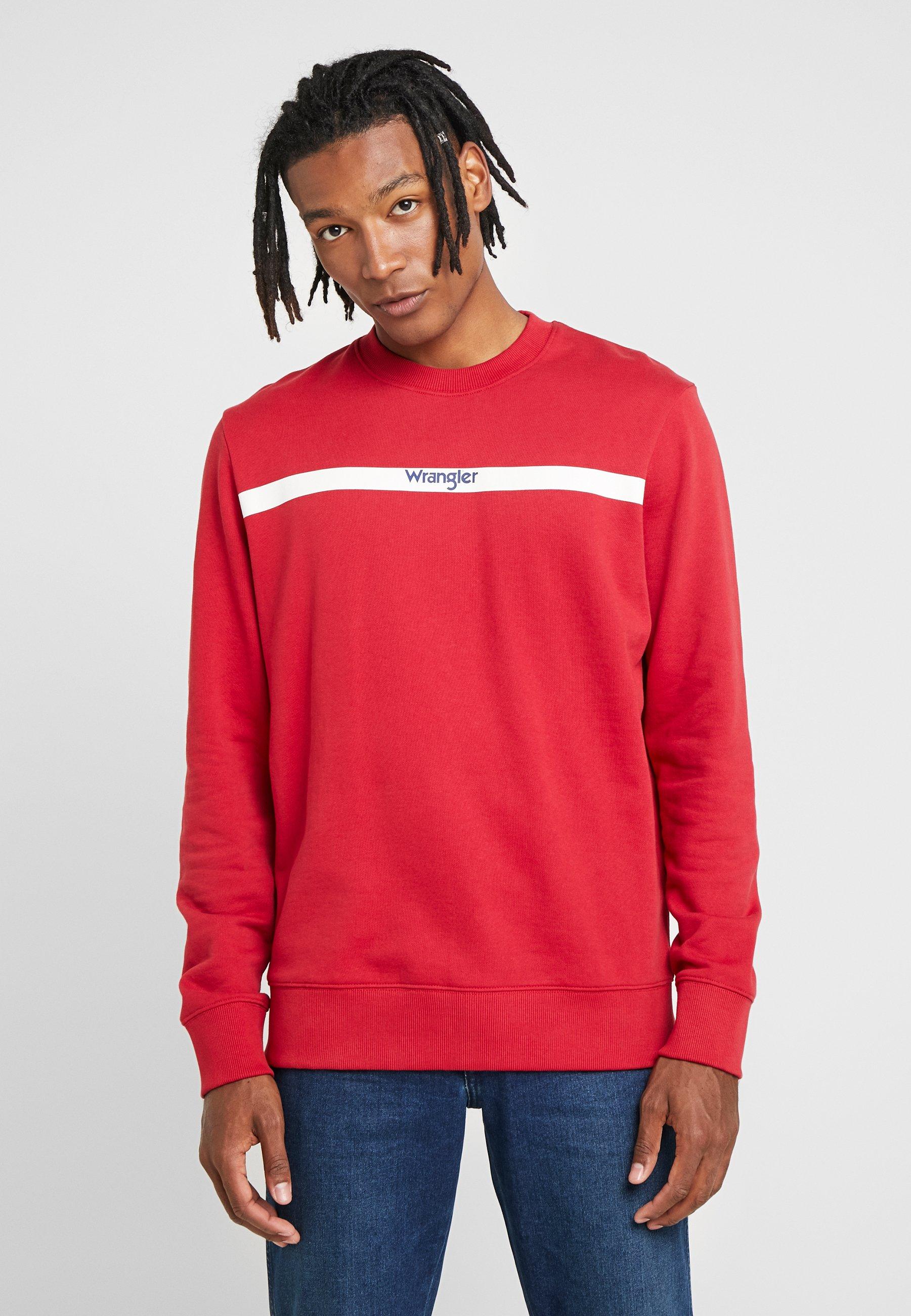 Stripe Stripe Red LogoSweatshirt LogoSweatshirt Red LogoSweatshirt Red Wrangler Wrangler Stripe Wrangler Wrangler Stripe DEHYI29W