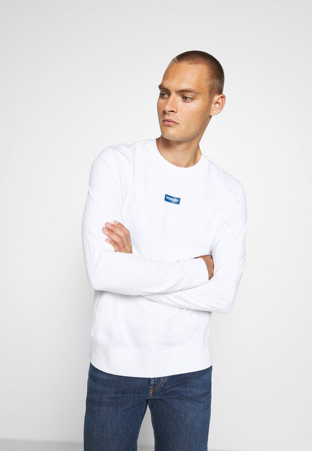 LOGO CREW - Collegepaita - white