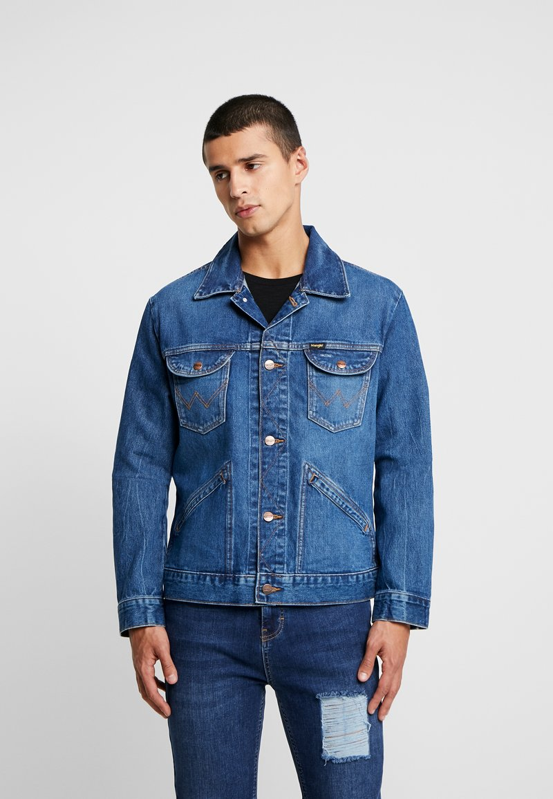 Wrangler - Jeansjakke - blue denim