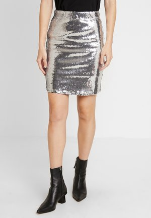 SKIRT MILLY - Minihame - silver