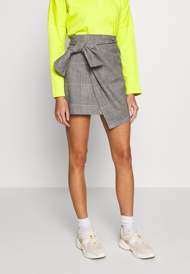 SKIRT GHOST - Wrap skirt - black/white