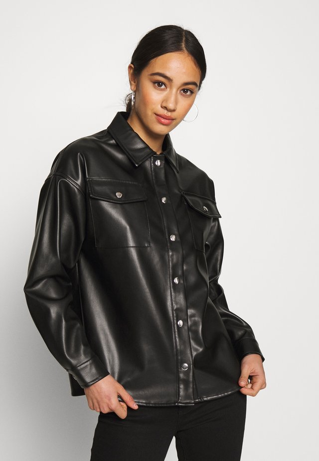 STYLE BLOUSE CAROUSEL - Button-down blouse - black