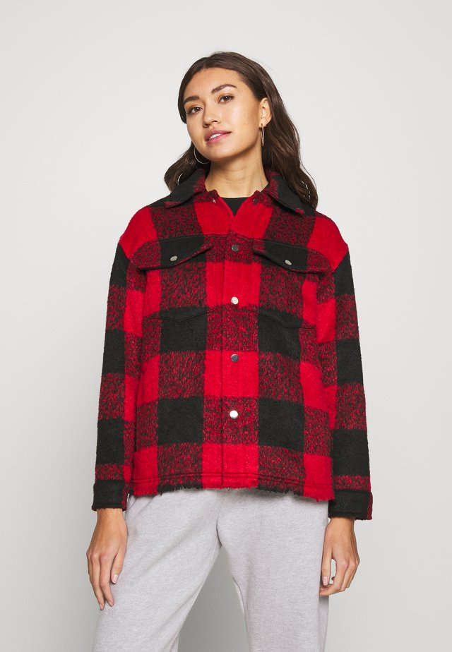 JACKET LEXI CHECKED  - Kurtka wiosenna - black/red