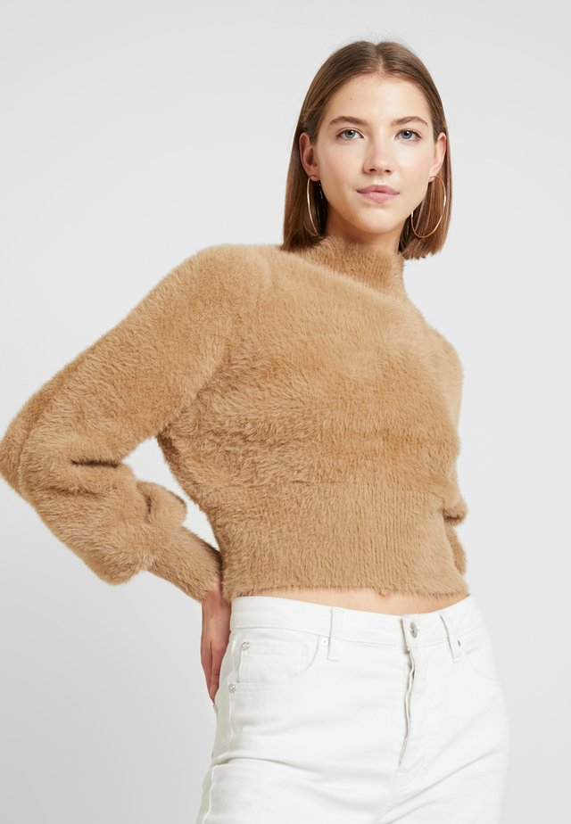 MOLLY - Stickad tröja - beige